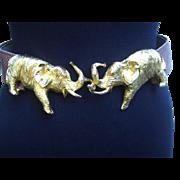 SALE Gilt Elephant Belt by Alexis Kirk
