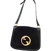 SALE Gucci Black Blondie Shoulder Bag.  1970's