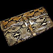 Python Handbag. Clutch/Shoulder bag. 1970's.