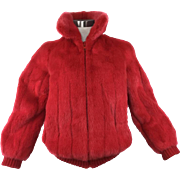 Red Mink Jacket. 1980's.