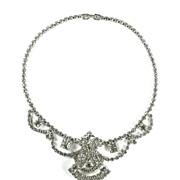 Crystal Rhinestone Large Center Motif Necklace
