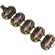 Lilac Glitter Cabochon Bracelet by Selro