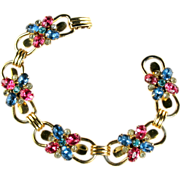 Coro Sterling Silver Rhinestone Vintage Bracelet