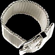 Wide Mesh Buckle Bracelet