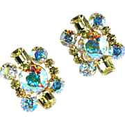 DeLizza and Elster Juliana Jonquil AB Rhinestone Earrings