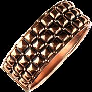 Renoir Copper Square Textured Cuff Bracelet