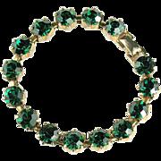Radiant Green Rhinestone Bracelet