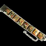 Persian Handpainted Story Vintage Bracelet