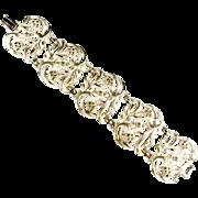 Karu Arke White Enamel Vintage Bracelet