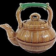 SALE Majolica Tea Pot C.1890