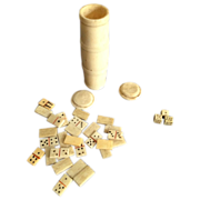 English Victorian  Dominoes Set