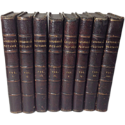 Plutarch's Lives in 8 Volumes, Half Calf, 1810 London