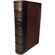 REDUCED Collection of Irish Literature, Two Volumes in One Leather Bound Book,London, 1880