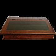 English Shopkeepers Box or Desk, Mahogany Slanted Writing Desk