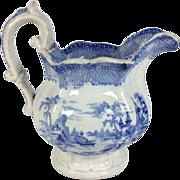 SALE English Blue & White Staffordshire Jug C.1840
