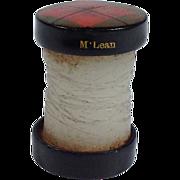 SOLD Tartan Ware Sewing Thread Wax Cylinder  C. 1900