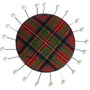 Tartan Ware 'Stuart' Sewing Pin Wheel