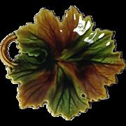 SALE Majolica Leaf Dish