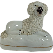SALE English Staffordshire Poodle Figurine C.1840-1860