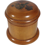 1850 Mauchline Ware Cylinder Shaped Box