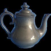 19th Century English Pewter Tea Pot