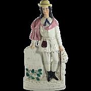 SALE English Staffordshire Figurine, Dick Whittington Mayor of London