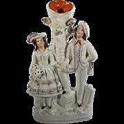 English Staffordshire Spill Vase Figurine with Pearlware Glaze