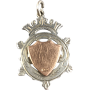 1908-1909 English Sterling Silver and 9 ct Gold Fob