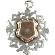 English Double Sided Sterling Silver Hallmarked Fob   1914