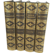SALE Leather Bound Set of Novels by Edward Bulwer-Lytton, 1878