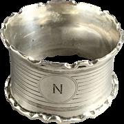 1911 English Sterling Silver Napkin Ring