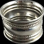 1918 English Hallmarked  Sterling Silver Napkin Ring