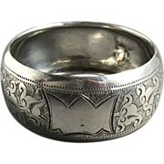 1904 English Hallmarked Sterling Silver Napkin Ring
