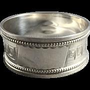 1922 English Hallmarked Sterling Silver Napkin Ring