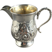 1864 English Hallmarked Sterling Silver Christening Cup/Pitcher