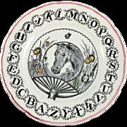 SALE 1890-1917 Child's ABC Plate