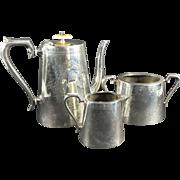 C.1920 English Silver Plate Three Piece Tea Set