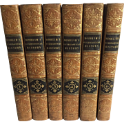 An Ecclesiastical History, Ancient and Modern in Six Leather Bound Volumes, Complete, by J.L .