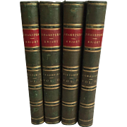 Works of Shakespeare, Pictorial Edition, Edited by Charles Knight, 1867 in 4 Volumes