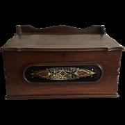 English Mahogany Shop Keepers Accountant and Storage Box
