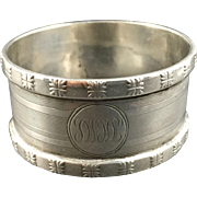 1918 English Sterling Silver Napkin Ring