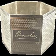 1944 English Sterling Silver Napkin Ring