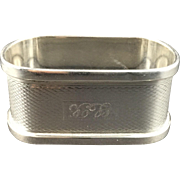 1914 English Sterling Silver Hallmarked Napkin Ring