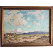SALE English Impressionist Landscape Painting, Signed Robert Jones