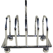 Petite Sterling Silver Toast Rack, 1920