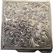 Sterling Silver Vintage Pill Box