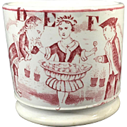 C.1840-1880 Child's English ABC Mug