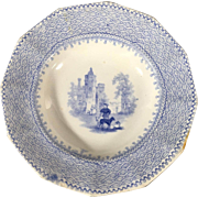 1850 English Transfer Ware Plate   'Honey Dish'