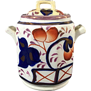 Gaudy Welsh Sugar Pot 'Oyster'