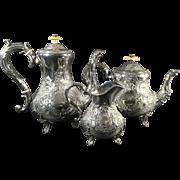 3 Piece English Silver Plated Tea Set